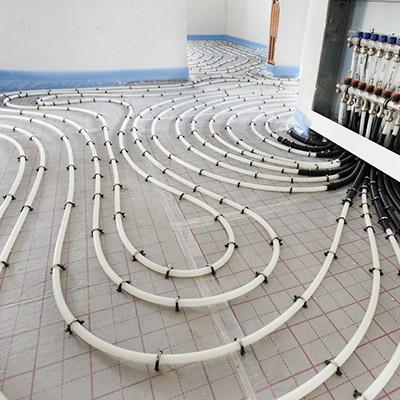 Fußbodenheizung Installation